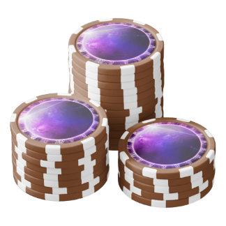 Planet Kepler 62e - Deep Dream Fractal Mandala Poker Chips