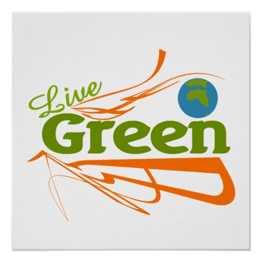 planet live green poster