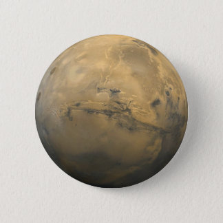 Planet Mars in the solar system NASA 2 Inch Round Button
