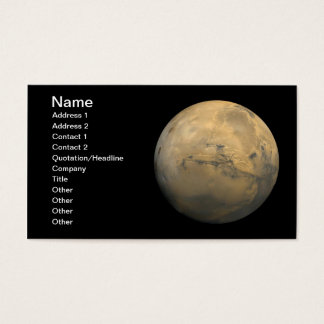 Planet Mars in the solar system NASA Business Card