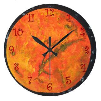 Planet Mars Large Clock