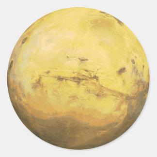 Planet Mars Solar System Classic Round Sticker
