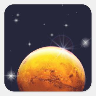 Planet Mars Square Sticker