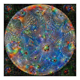 Planet Mercury Deep Dream Poster