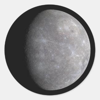 Planet Mercury in space Classic Round Sticker