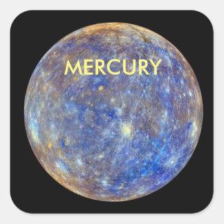 PLANET MERCURY SQUARE STICKER