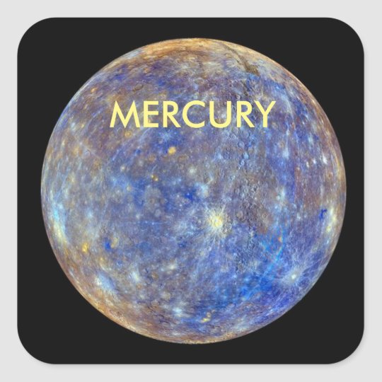 PLANET MERCURY SQUARE STICKER
