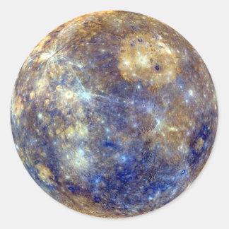 PLANET MERCURY v2 (solar system) ~ Classic Round Sticker