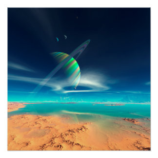 Planet Newerades - Rainbow Reflections Poster