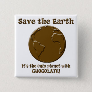 Planet of the Chocoholics 2 Inch Square Button