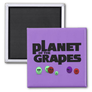 Planet of the Grapes Fridge Magnet