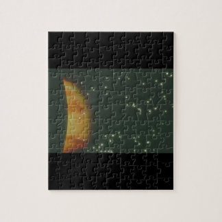 Planet on Fire. (planet;stars;gas_Space Scenes Puzzles