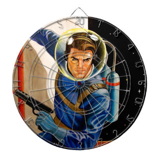 PLANET PATROL DARTBOARD WITH DARTS