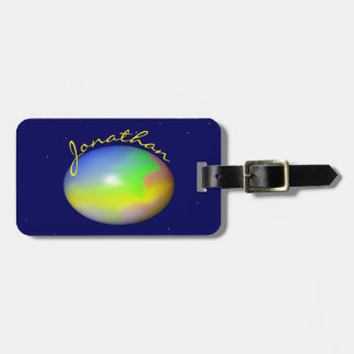 Planet Personalized Bag Tag