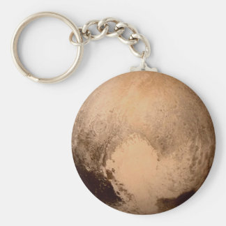PLANET PLUTO - HAVE A HEART! (solar system) ~ Basic Round Button Keychain