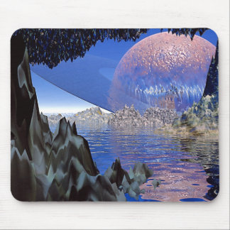 Planet-Rising Mouse Pad