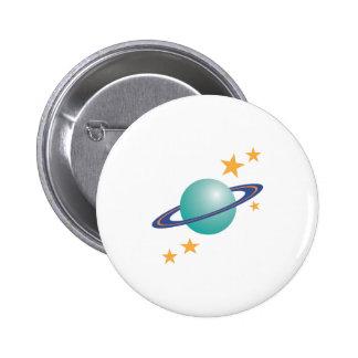 Planet Saturn 2 Inch Round Button