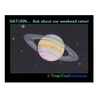 Planet SATURN postcard