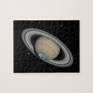 Planet Saturn Starry Sky Jigsaw Puzzle