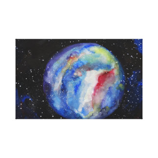 Planet Space Stars Single Canvas Print
