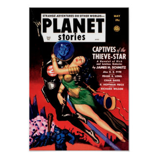 Planet Stories - Captives of the Thieve-Star Poster