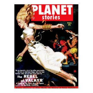 Planet Stories - Rebel of Valkyr Postcard