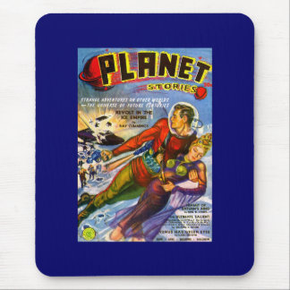 Planet Stories Vintage Sci Fi Comic Mouse Pad