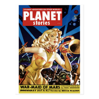Planet Stories - Warmaid of Mars Postcard