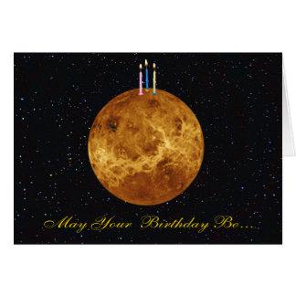 Planet Venus Birthday Card
