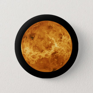 Planet Venus from Outer Space 2 Inch Round Button