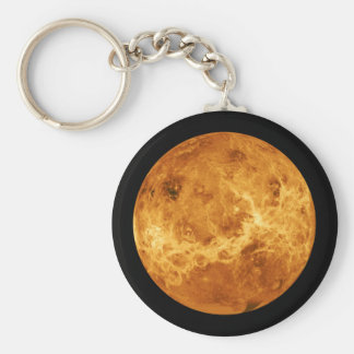 Planet Venus from Outer Space Keychain