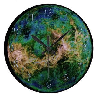 Planet Venus Large Clock