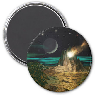 Planet Volcano World Magnet