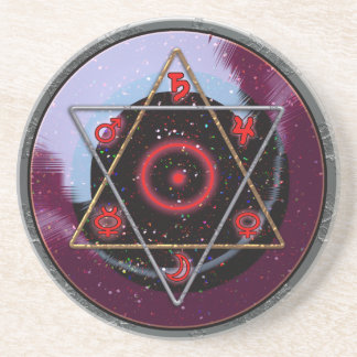 planetary hexagram coaster