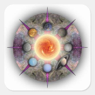 Planetary Mandala Rectangular Sticker