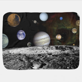 Planetary Montage Baby Blanket