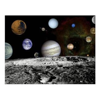 Planetary Montage Postcard