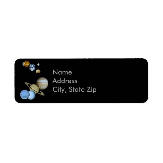 Planetary Montage Return Address Label