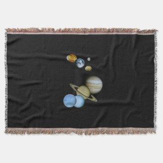 Planetary Montage Throw Blanket
