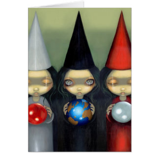 """Planetary Witches"" Greeting Card"
