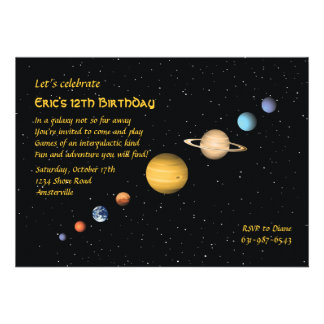 Planètes dans l invitation de l espace