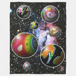Planetoids Fleece Blanket