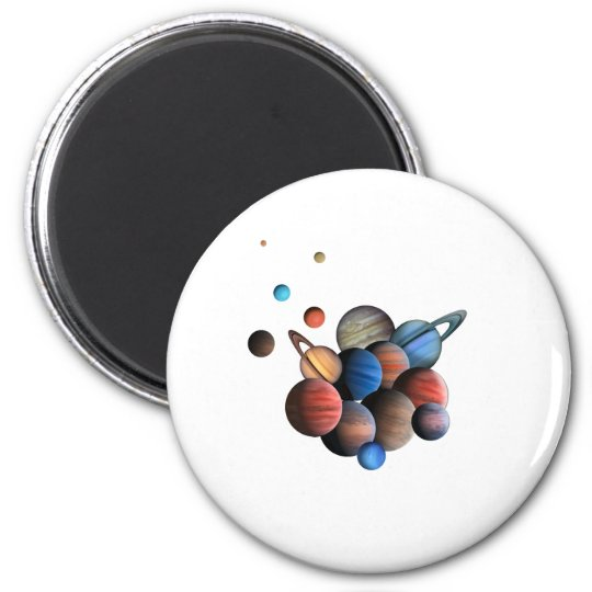 Planets 2 Inch Round Magnet