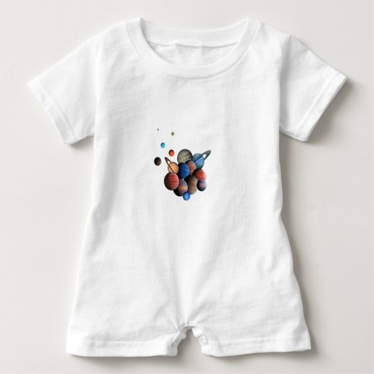 Planets Baby Romper