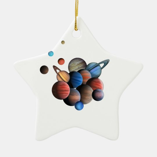 Planets Ceramic Star Ornament