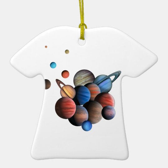 Planets Ceramic T-Shirt Ornament