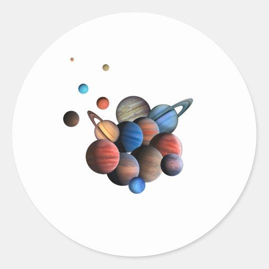 Planets Classic Round Sticker