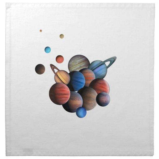 Planets Cloth Napkins
