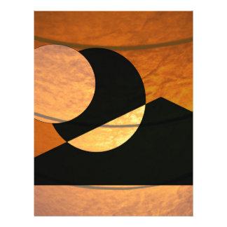 Planets Glow, Black and Copper, Graphic Design Letterhead