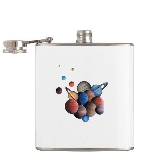 Planets Hip Flask